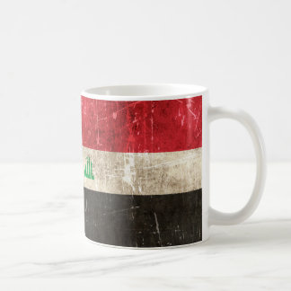 Vintage Aged and Scratched Flag of Iraq Mug