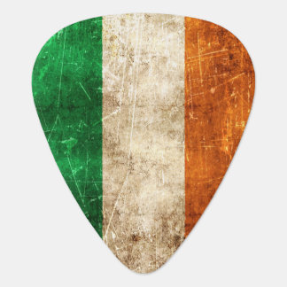 Vintage Aged and Scratched Flag of Ireland Guitar Pick