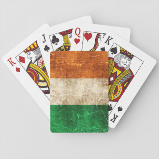 Vintage Aged and Scratched Flag of Ireland Playing Cards