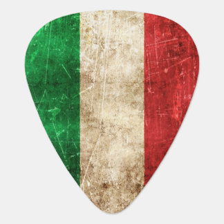 Vintage Aged and Scratched Flag of Italy Guitar Pick