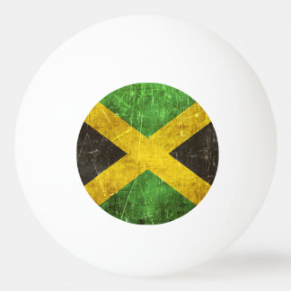 Vintage Aged and Scratched Flag of Jamaica Ping-Pong Ball