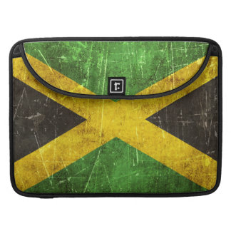 Vintage Aged and Scratched Flag of Jamaica MacBook Pro Sleeve