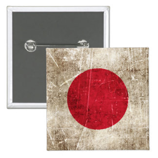 Vintage Aged and Scratched Flag of Japan Pins
