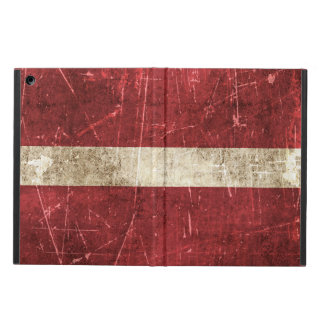 Vintage Aged and Scratched Flag of Latvia iPad Air Cover