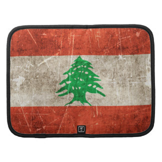 Vintage Aged and Scratched Flag of Lebanon Planners