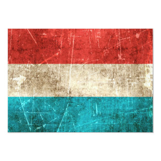 Vintage Aged and Scratched Flag of Luxembourg Card