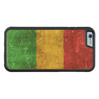 Vintage Aged and Scratched Flag of Mali Carved Maple iPhone 6 Bumper Case