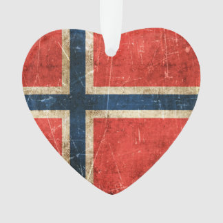 Vintage Aged and Scratched Flag of Norway