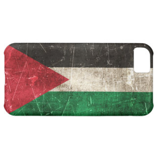 Vintage Aged and Scratched Flag of Palestine Case For iPhone 5C