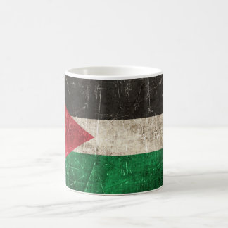 Vintage Aged and Scratched Flag of Palestine Coffee Mug