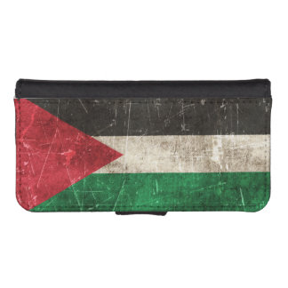 Vintage Aged and Scratched Flag of Palestine iPhone 5 Wallets