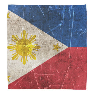 Vintage Aged and Scratched Flag of Philippines Bandana