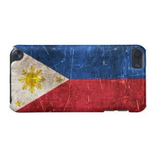 Vintage Aged and Scratched Flag of Philippines iPod Touch (5th Generation) Cover