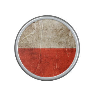 Vintage Aged and Scratched Flag of Poland Bluetooth Speaker