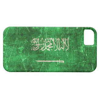 Vintage Aged and Scratched Flag of Saudi Arabia iPhone 5 Case