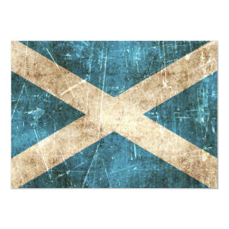 Vintage Aged and Scratched Flag of Scotland Card