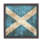 Vintage Aged and Scratched Flag of Scotland Premium Gift Box