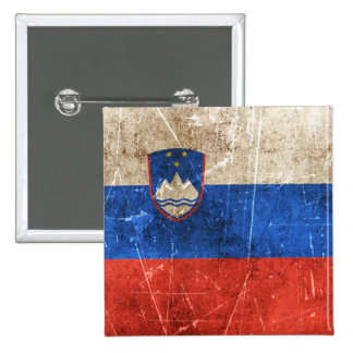 Vintage Aged and Scratched Flag of Slovenia Pin