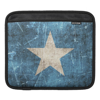 Vintage Aged and Scratched Flag of Somalia Sleeves For iPads