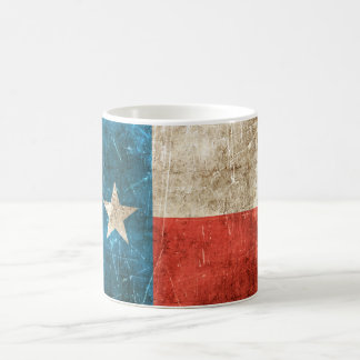 Vintage Aged and Scratched Flag of Texas Coffee Mug
