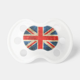 Vintage Aged and Scratched Flag of United Kingdom Pacifier