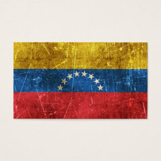 Vintage Aged and Scratched Flag of Venezuela Business Card