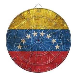 Vintage Aged and Scratched Flag of Venezuela Dartboards