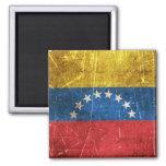 Vintage Aged and Scratched Flag of Venezuela Magnet