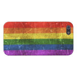 Vintage Aged and Scratched Rainbow Flag Cover For iPhone 5/5S