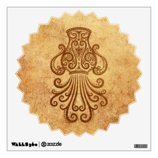 Vintage Aged Aquarius Zodiac Wall Decal
