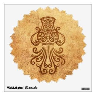 Vintage Aged Aquarius Zodiac Wall Decal