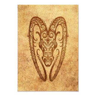 Vintage Aged Aries Zodiac Custom Invitations