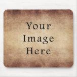 Vintage Aged Brown Parchment Paper Background Mouse Pads