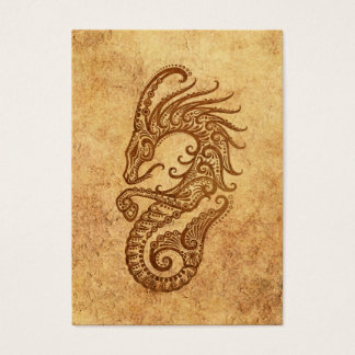 Vintage Aged Capricorn Zodiac Business Card