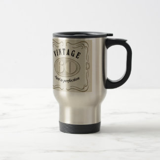 Vintage - aged for perfection, personalized travel mug