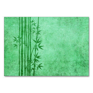 Vintage Aged Green Bamboo Sticks with Leaves Card