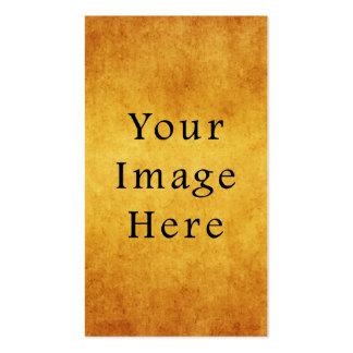 Vintage Aged Harvest Gold Parchment Paper Blank Business Card