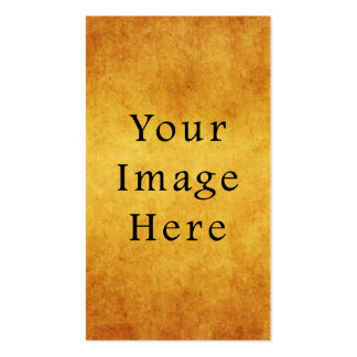 Vintage Aged Harvest Gold Parchment Paper Blank Business Card Template