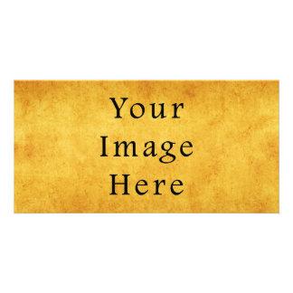 Vintage Aged Harvest Gold Parchment Paper Blank Photo Card