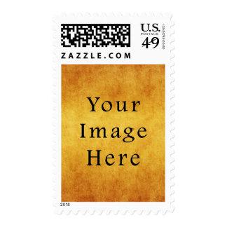 Vintage Aged Harvest Gold Parchment Paper Blank Stamps