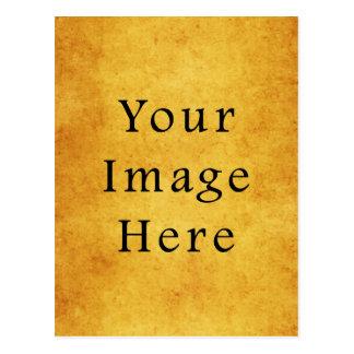 Vintage Aged Harvest Gold Parchment Paper Blank Postcard