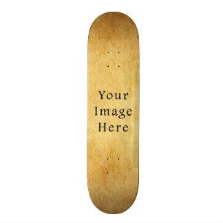 Vintage Aged Harvest Gold Parchment Paper Blank Skate Boards