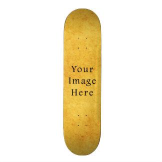 Vintage Aged Harvest Gold Parchment Paper Blank Custom Skate Board