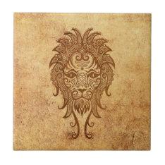 Vintage Aged Leo Zodiac Tile at Zazzle