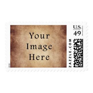 Vintage Aged Light Dark Brown Parchment Paper Postage