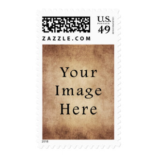 Vintage Aged Light Dark Brown Parchment Paper Stamp