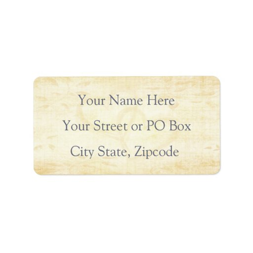 Vintage Aged Paper Wedding Custom Address Labels