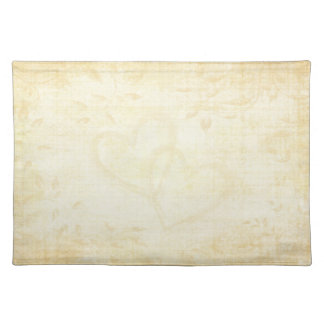Vintage Aged Paper Wedding Place Mats