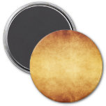Vintage Aged Parchment Paper Template Blank 3 Inch Round Magnet