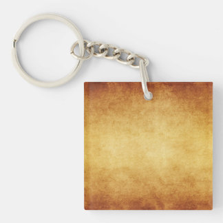 Vintage Aged Parchment Paper Template Blank Square Acrylic Key Chains